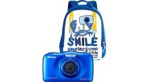 Φωτογραφική Μηχανή Nikon Coolpix W100 Μπλε Backpack kit