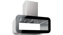 Απορροφητήρας Νησίδα Pyramis Corso Elegant Inox - Μαύρο 90 cm