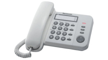 Ενσύρματο Τηλέφωνο Panasonic KX-TS520EX2W Λευκό