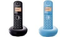 Ασύρματο Τηλέφωνο Panasonic KX-TGB210GRB Black & KX-TGB210GRF Blue