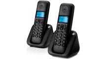 Ασύρματο Τηλέφωνο Motorola T302 Dual Black
