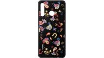 Θήκη Huawei P30 Lite TPU Colorful Flower Black