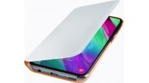 Θήκη Samsung Galaxy A40 Flip Wallet Cover White