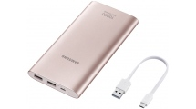 Power Bank Samsung 10000mAh Fast External Battery Micro USB Pink