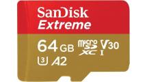 Κάρτα Μνήμης Sandisk Extreme microSDXC 64GB SDSQXAF-064G-GN6MA With Adapter