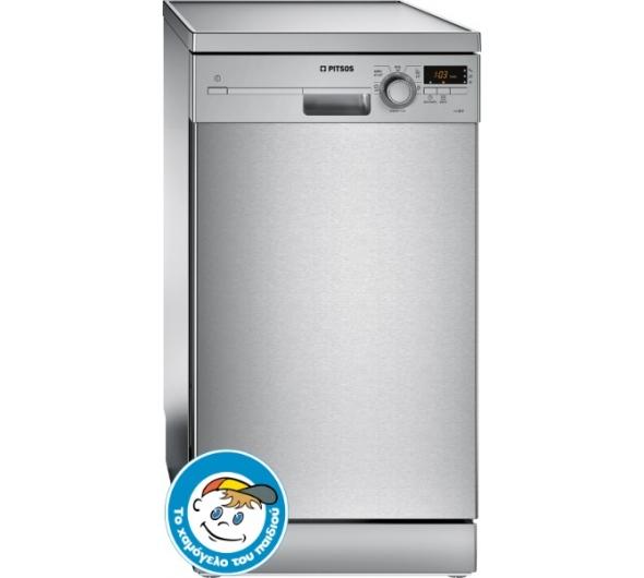 Πλυντήριο Πιάτων Pitsos DRS5518 Inox 45 cm Α+ - Electronet.gr 35149e7d150