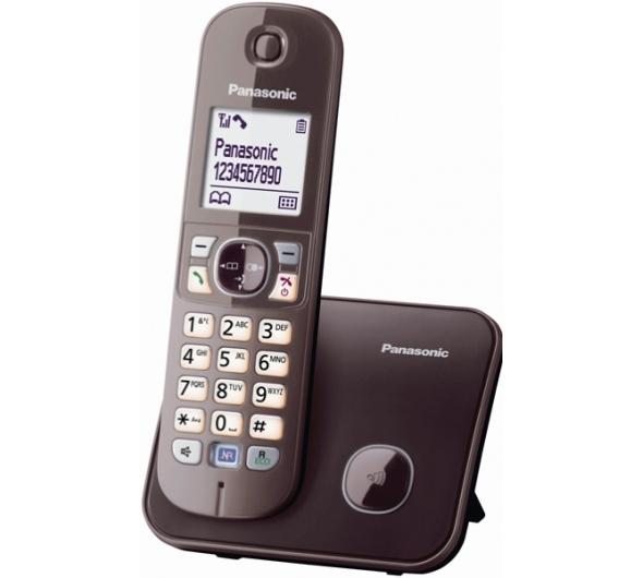 Ασύρματο Τηλέφωνο Panasonic KX-TG6811GRA Brown