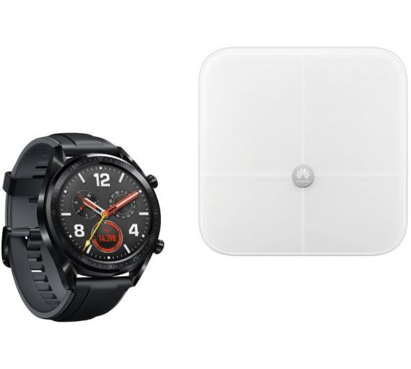 SmartWatch Huawei Watch GT Black & Ζυγαριά Huawei Body Fat Scale