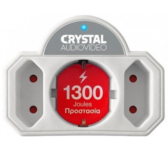 Πολύπριζο Ασφαλείας Crystal Audio CPW21-1300-70 3 Θέσεων Λευκό
