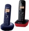 Ασύρματο Τηλέφωνο Panasonic KX-TGB210GRC Blue & KX-TG1611GRR Red